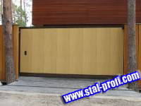 Ворота металлические с электроприводом