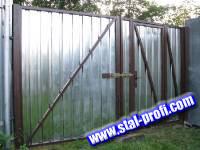 Въездные ворота из металла